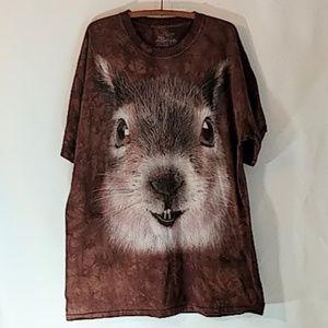 The Mountain Shirts - Squirrel Head T Shirt sz 2XL The Mountain